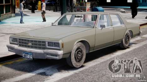 Chevrolet Impala 1983 [Final] para GTA 4 esquerda vista