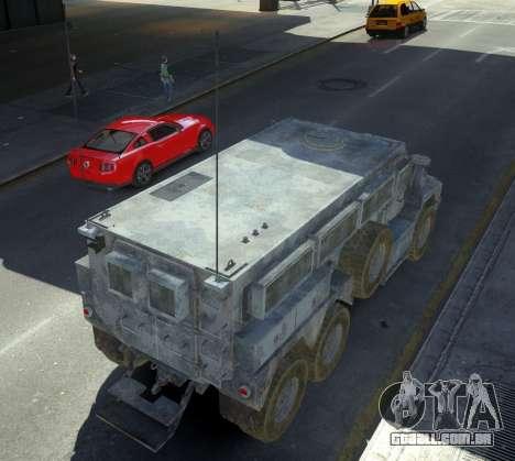 HEMTT Phalanx Oshkosh para GTA 4 traseira esquerda vista