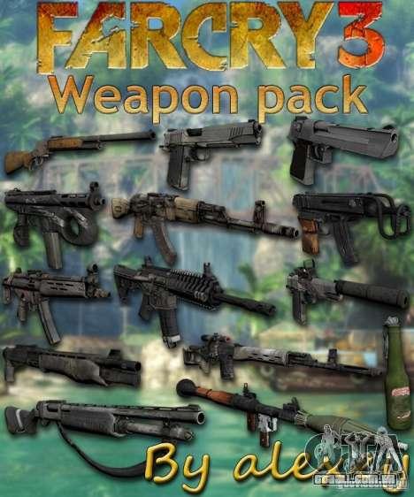 O conjunto de Far Cry 3 para GTA San Andreas