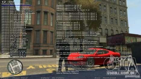 Simples Trainer versão 6.2 para 1.0.1.0-1.0.0.4 para GTA 4 quinto tela