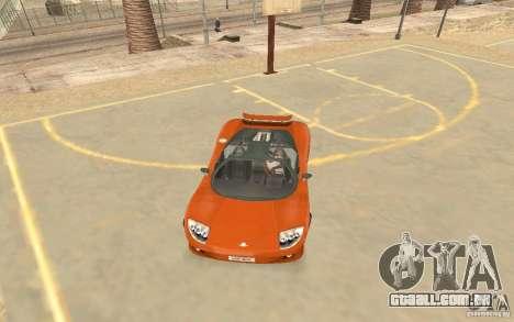 Veloche carro para GTA San Andreas esquerda vista