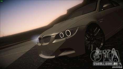 BMW M3 E92 para vista lateral GTA San Andreas