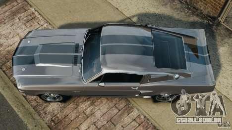 Shelby Mustang GT500 Eleanor 1967 v1.0 [EPM] para GTA 4 vista direita