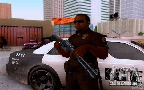 Um policial de CoD: BO2 para GTA San Andreas quinto tela