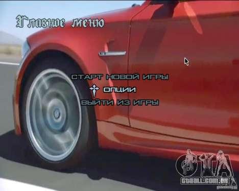 A plano de fundo no menu para GTA San Andreas
