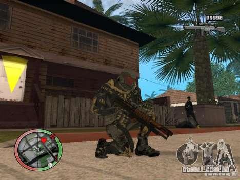 Coleção de armas de Crysis 2 para GTA San Andreas terceira tela