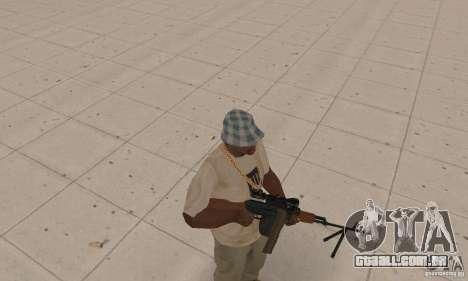 A metralhadora portátil Kalashnikov para GTA San Andreas segunda tela