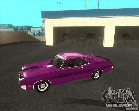 Mercury Cyclone Spoiler 1970 para GTA San Andreas traseira esquerda vista