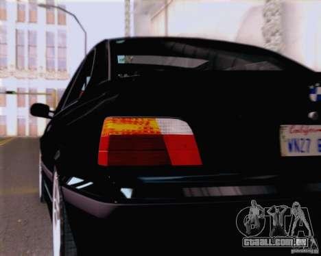 BMW M3 E36 New Wheels para GTA San Andreas vista interior