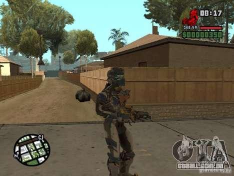 O traje dos jogos Dead Space 2 para GTA San Andreas quinto tela