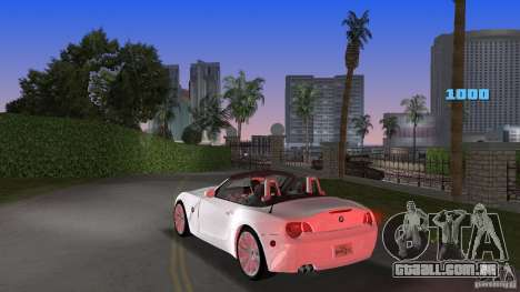 BMW Z4 2004 para GTA Vice City vista traseira esquerda