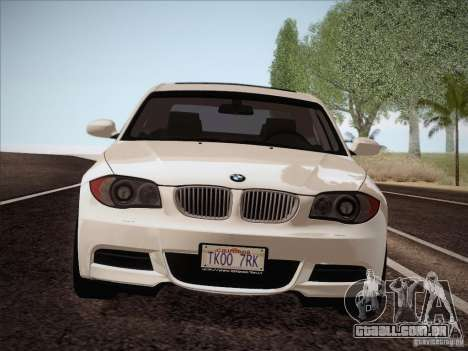 BMW 135i para GTA San Andreas vista interior