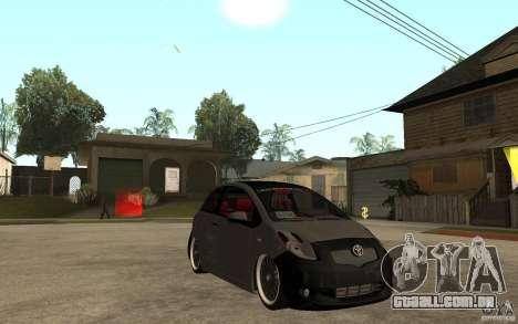 Toyota Yaris II Custom para GTA San Andreas vista traseira