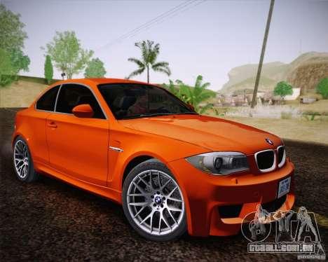 BMW 1M v2 para GTA San Andreas vista traseira
