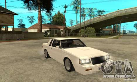 Buick Regal Grand National GNX para GTA San Andreas vista traseira