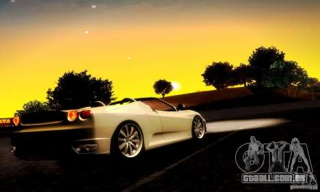 Ferrari F430 Spider para GTA San Andreas vista traseira