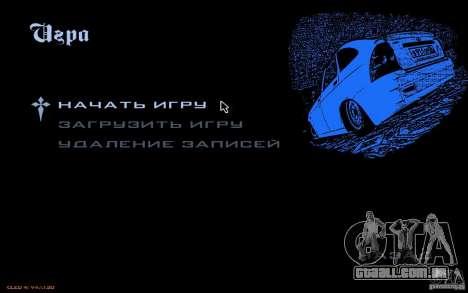 O menu do jogo GTA Nogaystan para GTA San Andreas terceira tela