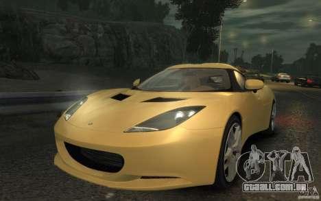 Lotus Evora 2009 para GTA 4 traseira esquerda vista