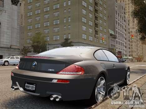 BMW M6 2010 para GTA 4 esquerda vista