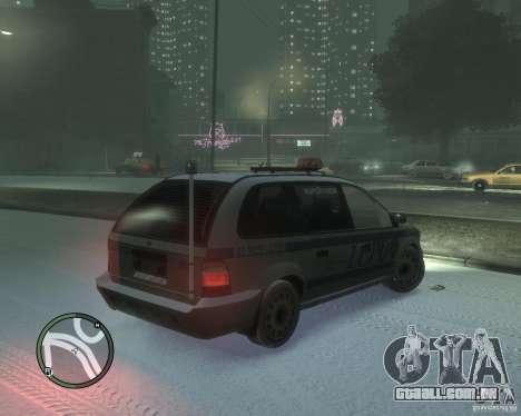 LCPD Minivan para GTA 4 vista direita