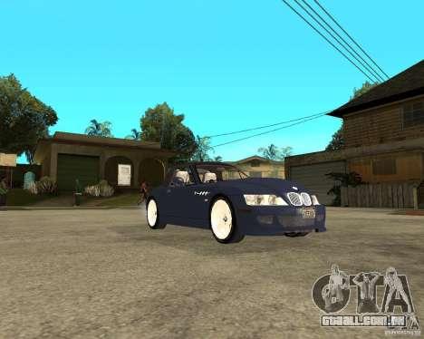 BMW Z3 Roadster para GTA San Andreas vista direita
