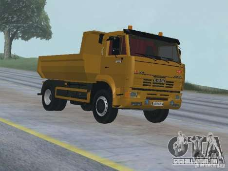 KAMAZ 53605 TAI versão 1.1 para GTA San Andreas vista traseira