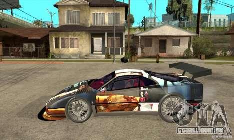Ferrari F40 2000 Extreme para GTA San Andreas esquerda vista