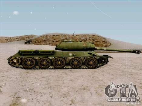 T-34 para GTA San Andreas esquerda vista