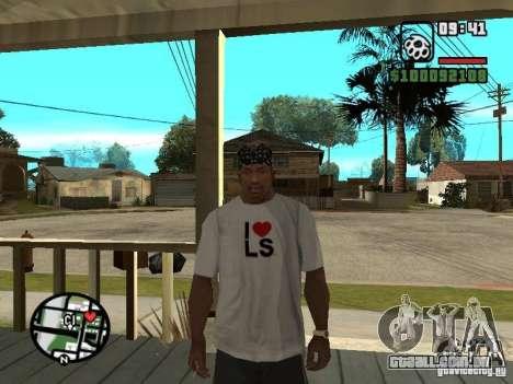 Rammstein t-shirt v2 para GTA San Andreas por diante tela