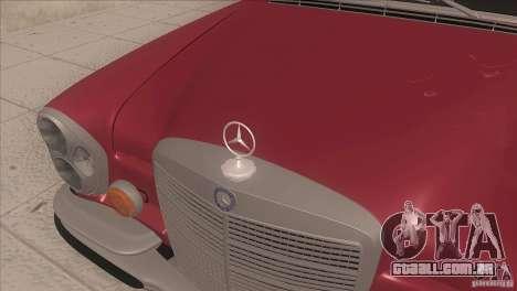 Mercedes-Benz 300 SEL para GTA San Andreas vista interior