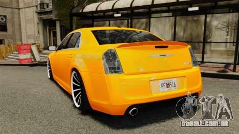 Chrysler 300 SRT8 LX 2012 para GTA 4 traseira esquerda vista