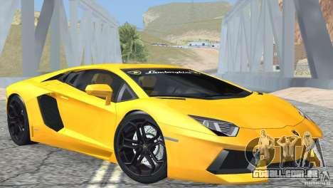 Lamborghini Aventador LP700-4 2012 para GTA San Andreas traseira esquerda vista