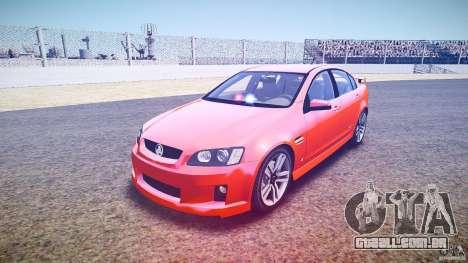 Holden Commodore SS (FBINOoSE) para GTA 4 vista de volta