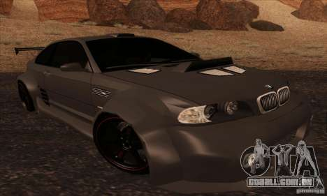 BMW M3 para vista lateral GTA San Andreas