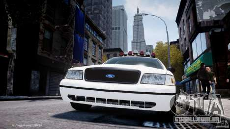 Ford Crown Victoria New Jersey State Police para GTA 4 rodas