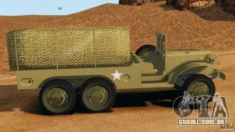 Dodge WC-62 3 Truck para GTA 4 esquerda vista