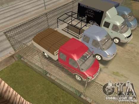 Agricultor de gaz gazela 33023 para vista lateral GTA San Andreas