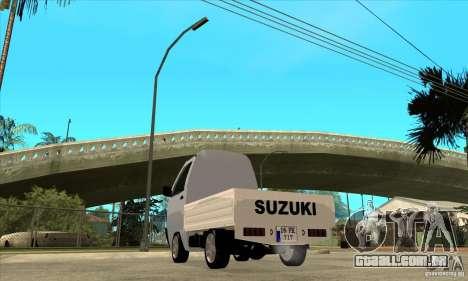 Suzuki Carry Kamyonet para GTA San Andreas traseira esquerda vista
