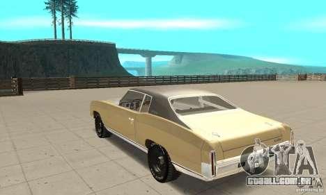 Chevy Monte Carlo [F&F3] para GTA San Andreas traseira esquerda vista