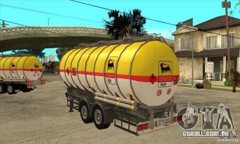 Trailer Tunk para GTA San Andreas traseira esquerda vista