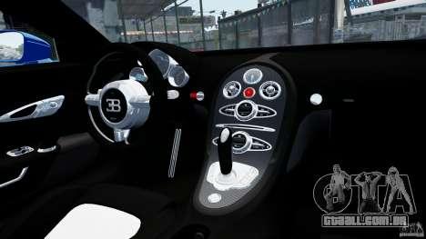Bugatti Veyron 16.4 v1.0 wheel 2 para GTA 4 vista interior