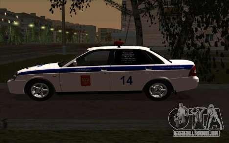 LADA 2170 polícia para GTA San Andreas