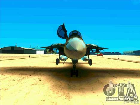 F-14 Tomcat Schnee para GTA San Andreas vista interior