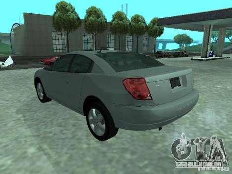 Saturn Ion Quad Coupe 2004 para GTA San Andreas esquerda vista