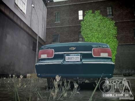 Chevrolet Caprice 1993 Rims 2 para GTA 4 traseira esquerda vista