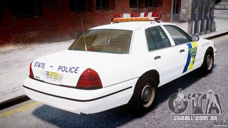 Ford Crown Victoria New Jersey State Police para GTA 4 motor
