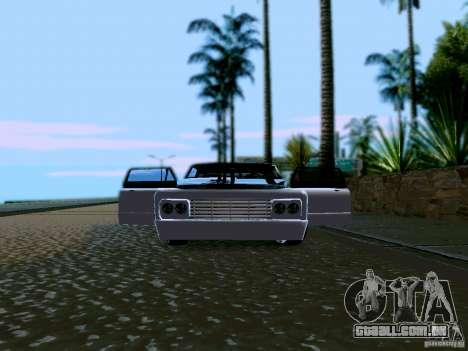 Slamvan Tuned para GTA San Andreas vista interior