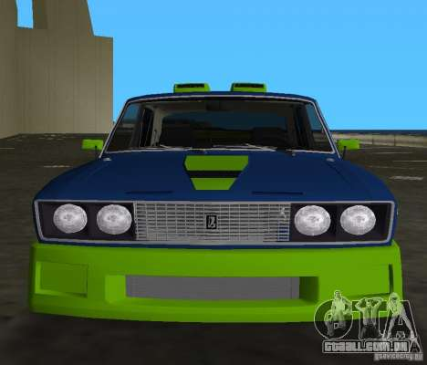 VAZ 2106 Tuning v 3.0 para GTA Vice City deixou vista