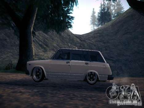 Ar Vaz 2104 para GTA San Andreas esquerda vista