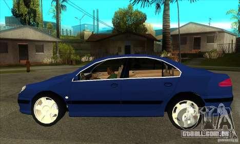 Peugeot 607 para GTA San Andreas esquerda vista